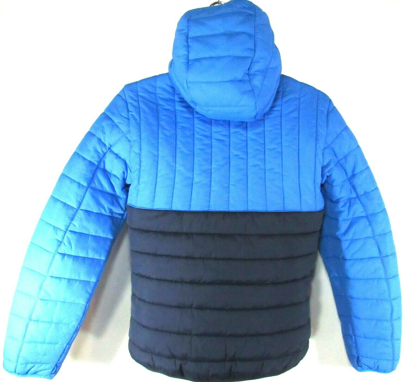 TIMBERLAND A1MZU-S62 MEN'S NAVY/BLUE QUILTED PUFFER lightweight HOODED JACKET