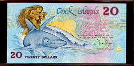 "COOK ISLANDS  P5a $20 1987 ""GREAT WHITE"" NOTE in PERFECT UNC CONDITION! - $249.00"