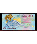 """COOK ISLANDS  P5a $20 1987 """"GREAT WHITE"""" NOTE in PERFECT UNC CONDITION! - $249.00"""