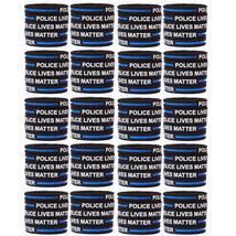 100 Police Lives Matter Wristbands Thin Blue Line Law Enforcement Awareness Band - $49.49