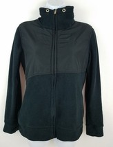 Reebok Women's Fleece Shell Black Workout Running Jacket Size M - $16.92
