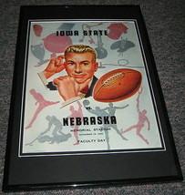 1950 Nebraska vs Iowa State Football Framed 10x14 Poster Official Repro - $46.39