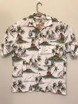 Campia Moda Men's XL Shirt Hawaiian American Flag Sailboat - $17.33