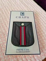 CHAPS NEW BLACKBERRYCASE 4 X 5 SIZE...BLACK WHITE WITH RED STRIPE NEW PKGE  - $7.87
