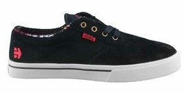 Etnies Mens Black/Tan/Red Suede Leather Jameson 2 Low Top Skateboarding Shoes NW image 2