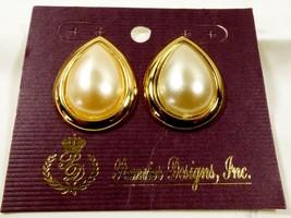 Fashion Designers Premier Designs White Pearl Faux Teardrop Earrings - $25.74