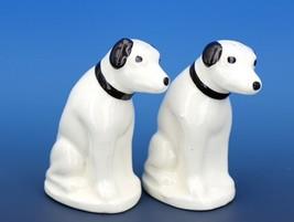Vintage Novelty Salt & Pepper Shaker Set Mid 50's USA Nipper Terrier Dogs
