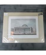 Ca 1859 Print Wall St. & William NYC Exchange Bldg. Katherine Ebert Prov... - $42.08