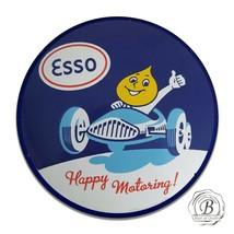 ESSO Gasoline Happy Motoring Flame Head Reproduction Circle Aluminum Sign