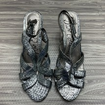 Sam Edelman Shoes Women's 10.5 M Luna Mid Heel City Sandal Silver  - $29.99