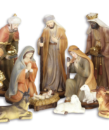 BEAUTIFUL SET OF 11 FIGURES, JESUS BIRTH, Christmas decor *Free Air Shi... - $149.00