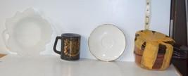 Lot of 7 //Leaf Serving Bowl, Coffee Mug, Bavaria Schumann Saucer, 4 Vis... - $11.57