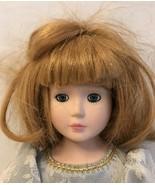 """Vintage La Belle Au Bois Dormant / Sleeping Beauty 13"""" Porcelain And Fabric - $9.50"""