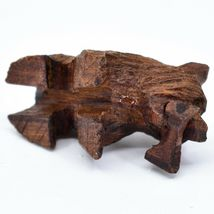 Hand Carved Ironwood Wood Folk Art 3D Grizzly Bear Country Rustic Theme Keychain image 5