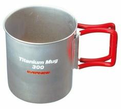 *Ebanyu (EVERNEW) titanium mug 300FH RED EBY266R - $23.16