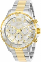Invicta Men's White Dial TwoTone Stainless Steel Quartz Movement Watch 29462 - $83.30