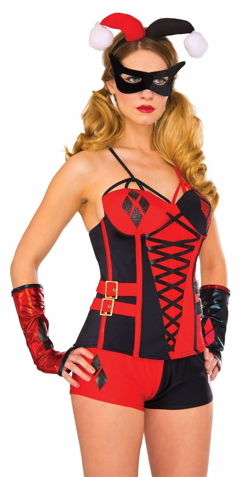 Primary image for Rubies DC Comics Deluxe Adult Harley Quinn Corset Halloween Costume 840003