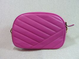 NWT Tory Burch Crazy Pink Kira Chevron Small Camera Bag $358 image 4