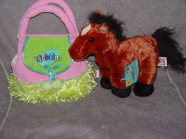 Webkinz Brown Arabian Horse In Carrier Purse - $14.00