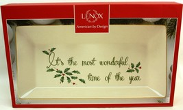 """LENOX 'IT'S THE MOST WONDERFUL TIME OF THE YEAR"""" PLATTER 14.5X9 - $21.23"""