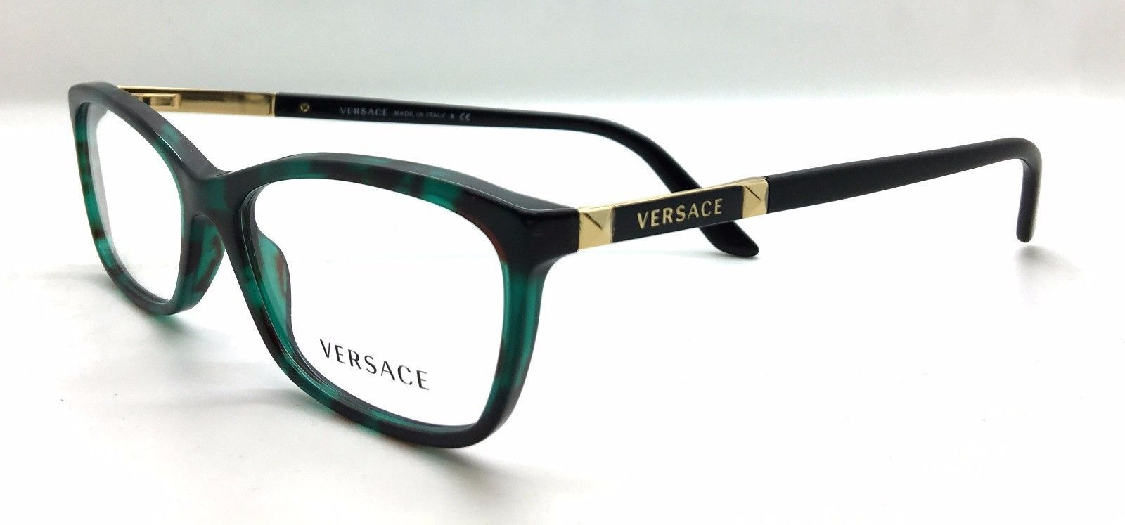 1fe7ac55840d Versace MOD. 3186 5076 Green Tortoise New Authentic Eyeglasses 52mm 16mm  140mm