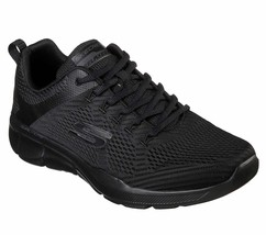 Skechers Black shoe Men Memory Foam Soft Mesh Train Sport Comfort Athlet... - $56.99