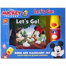 Disney - Mickey & Friends Let's Go - Book and Flashlight Set Pop-up Book... - $8.86