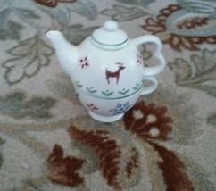 "Pfaltzgraff ""Nordic Christmas Tea For One Stack... - $23.09"