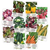 Heirloom Vegetable Seed Packet Collection (10 Individual Seed Packets) N... - $20.67