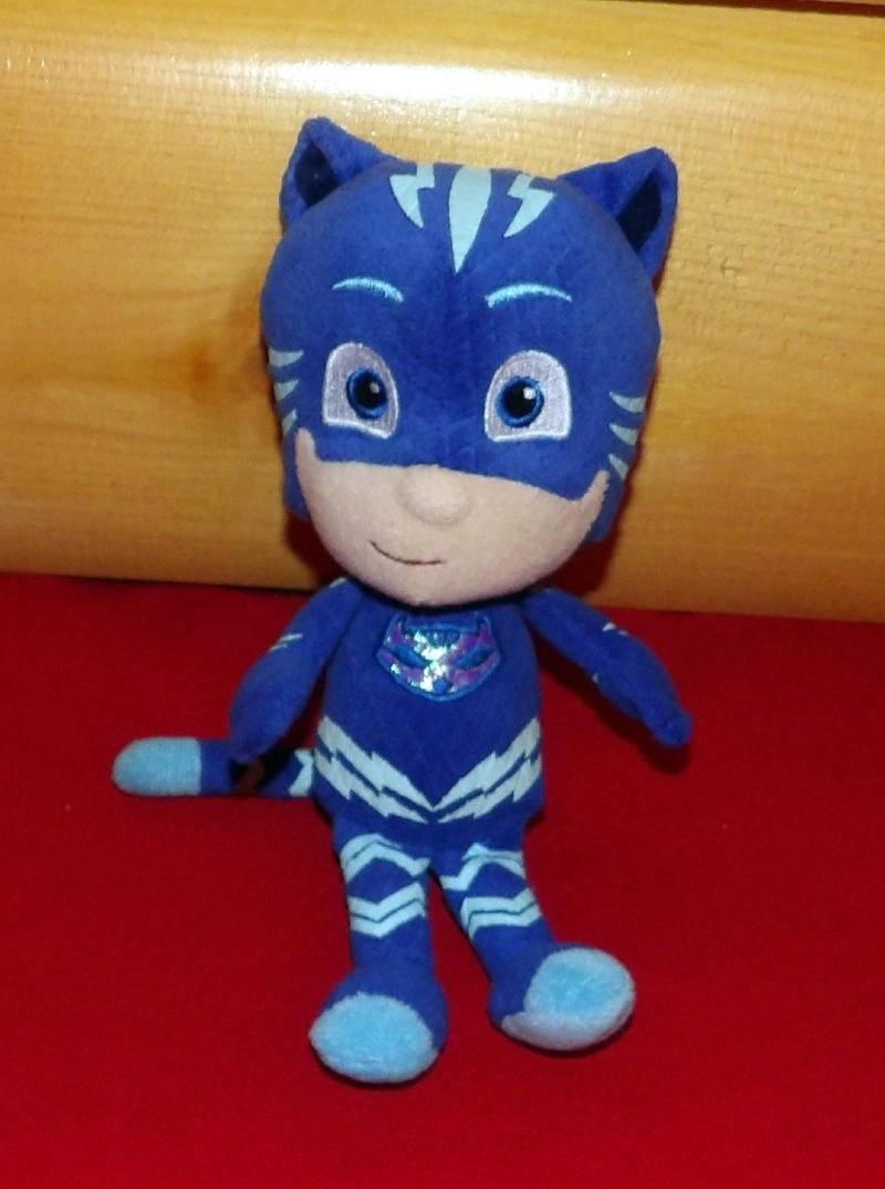 "PJ Masks Just Play Soft Plush Beans Blue 8"" Superhero CATBOY Connor"