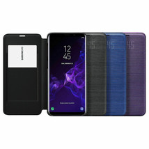 Original Samsung Galaxy S9 Plus S9+ LED View Cover Wallet Case EF-NG965 Black image 1