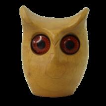 Mid Century Modern Oregon Myrtlewood Owl Modernist Figurine - $27.70