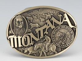 Montana Silversmith Montana State Heritage Solid Brass Belt Buckle image 2