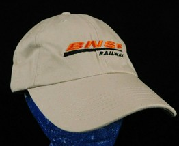 BNSF Railway Beige Baseball Cap Hat Box Shipped - $16.99