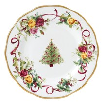 Royal Albert Old Country Roses Christmas Tree Salad Plate 8-Inch NEW (S) - $19.79