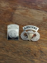 LOT OF 2 US ARMY Airborne Parachutist Paratrooper Jump Wings PIN Pin-back EUC - $10.00