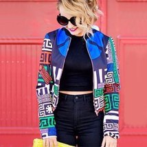 Printed Bomber Jacket For Womens - $59.00