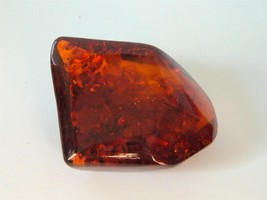 Vintage Chunk Genuine Baltic Amber Brooch Pin 40s Occluded Organic16g - $37.61