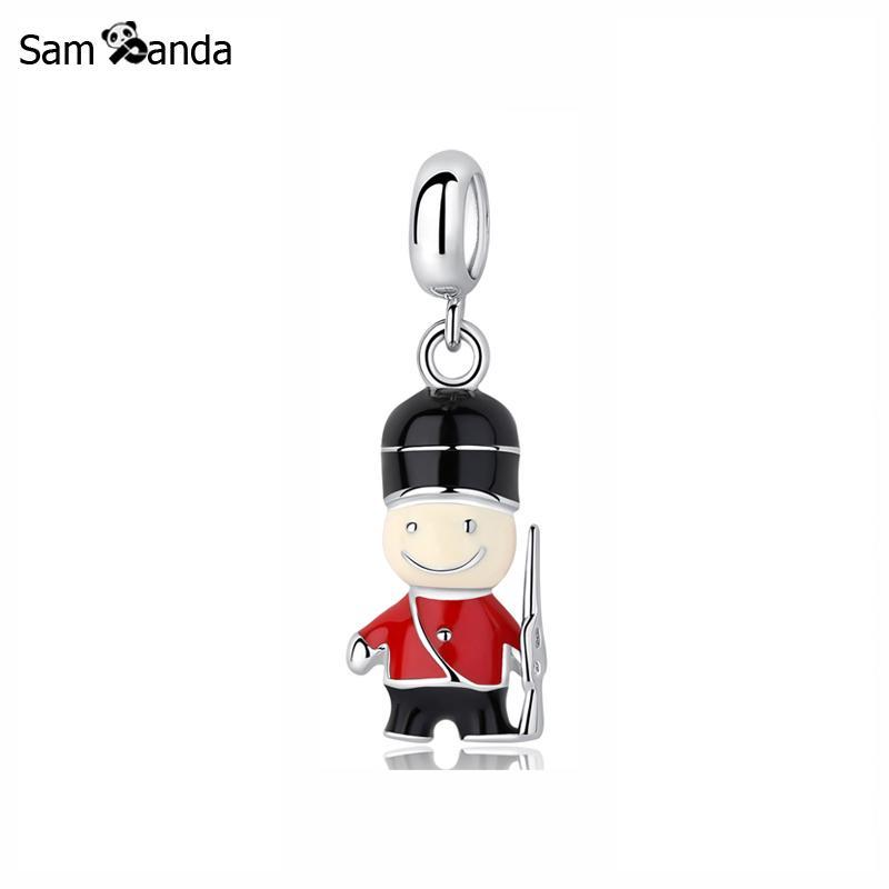 Buy New 100% 925 Sterling Silver Bead Charm London Household Guards Pendant Bus