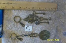 # purse jewelry bronze color keychain backpack  dangle charms #17 lot of 2 - $6.23