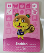 031 - Sheldon - Series 1 Animal Crossing Villager Amiibo Card - $9.99