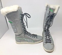 Puma Women's Winter Boots / Knee High  Silver & Green Accents w Faux Fur... - $44.90