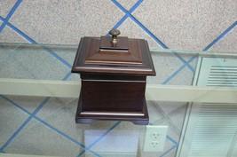 Beautiful Vintage Dark Wood Bombay Ring Jewelry Box/Music box - $14.84