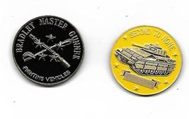 FIGHTING VEHICLES ARMY TANK BRADLEY MASTER GUNNER CHALLENGE COIN - $16.24