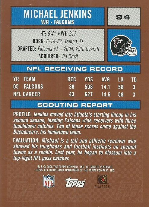 2006 Topps Draft Picks and Prospects #94 Michael Jenkins