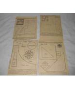 Lot 13 Vintage 1930s Quilt Patterns Newspaper - $28.88