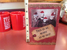 Red Wooden Box Christmas winter This is as merry as we get w Amish serious folk image 3