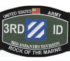 "4.5"" Army Mos 3RD Infantry Division Rock Of The Marne Embroidered Patch - $16.24"