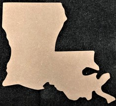 """1/4"""" MDF Cut Out, LOUISIANA Unfinished, Made in the USA - $7.00+"""