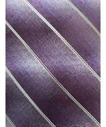 "Pierre Cardin ~ Slim ~ Handmade ~ 58"" Long ~ Purple Multicolored Necktie - $15.84"